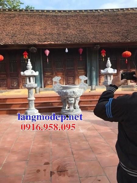 95 Mẫu lư hương đỉnh đền nhà thờ họ đình đền chùa miếu khu lăng mộ bằng đá Ninh Bình tại Lào Cai
