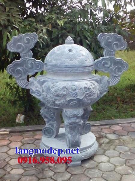 95 Mẫu lư hương đỉnh đền nhà thờ họ đình đền chùa miếu khu lăng mộ bằng đá chạm khắc tinh xảo tại Lào Cai