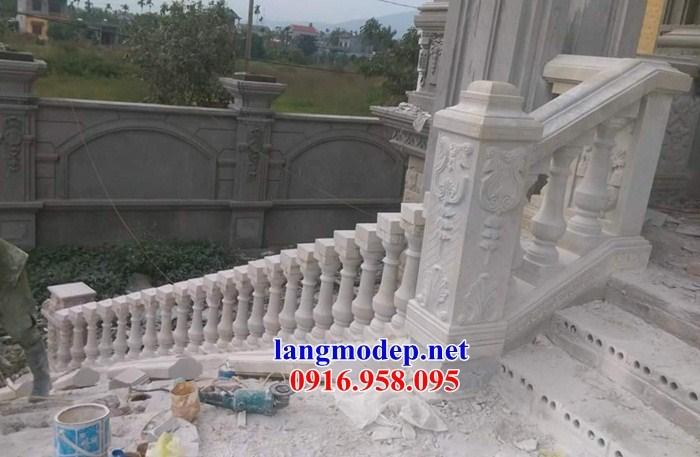 95 Mẫu lan can tường rào nhà thờ họ đình đền chùa miếu khu lăng mộ bằng đá trắng tại Lào Cai
