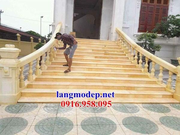 95 Mẫu lan can tường rào nhà thờ họ đình đền chùa miếu khu lăng mộ bằng đá vàng tại Lào Cai