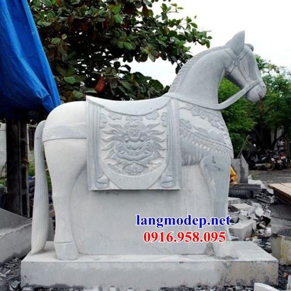 95 Mẫu ngựa phong thủy nhà thờ họ đình đền chùa miếu khu lăng mộ bằng đá Ninh Bình tại Lào Cai