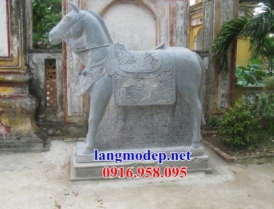 95 Mẫu ngựa phong thủy nhà thờ họ đình đền chùa miếu khu lăng mộ bằng đá tại Lào Cai