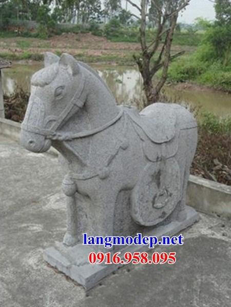 95 Mẫu ngựa phong thủy nhà thờ họ đình đền chùa miếu khu lăng mộ bằng đá tự nhiên tại Lào Cai