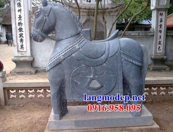 95 Mẫu ngựa phong thủy nhà thờ họ đình đền chùa miếu khu lăng mộ bằng đá thiết kế cơ bản tại Lào Cai