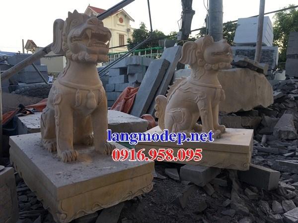 95 Mẫu nghê phong thủy nhà thờ họ đình đền chùa miếu khu lăng mộ bằng đá vàng tại Lào Cai