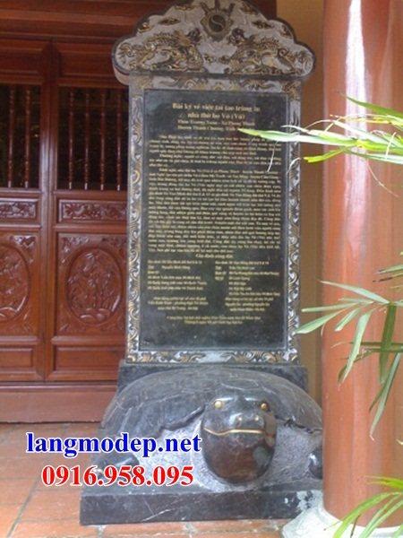 95 Mẫu rùa cõng bia ghi danh nhà thờ họ đình đền chùa miếu khu lăng mộ bằng đá đặt tại Lào Cai