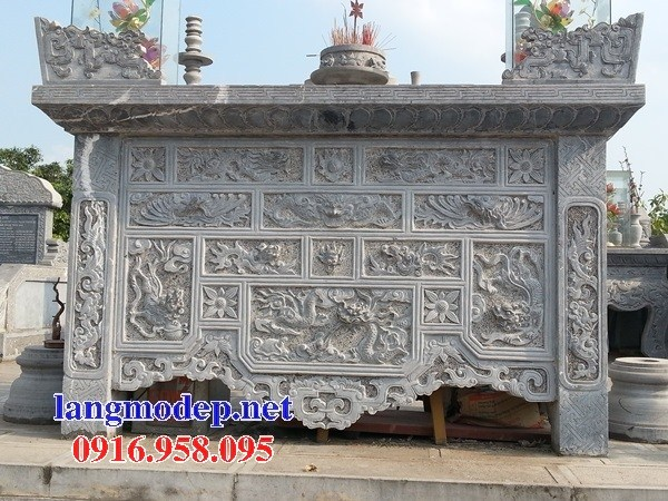 110 Mẫu bàn lễ nhà thờ họ đình đền chùa miếu khu lăng mộ bằng đá Ninh Bình tại Quảng Trị