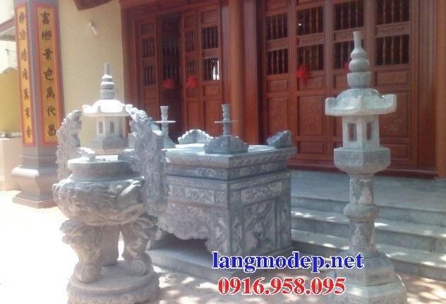 110 Mẫu bàn lễ nhà thờ họ đình đền chùa miếu khu lăng mộ bằng đá lắp đặt tại Quảng Trị