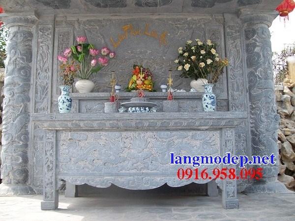 110 Mẫu bàn lễ nhà thờ họ đình đền chùa miếu khu lăng mộ bằng đá nguyên khối tại Quảng Trị