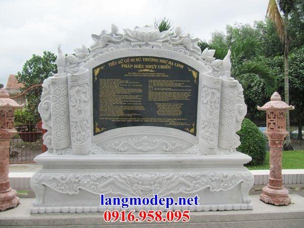 110 Mẫu bia ghi danh nhà thờ họ đình đền chùa miếu khu lăng mộ bằng đá trắng tại Quảng Trị