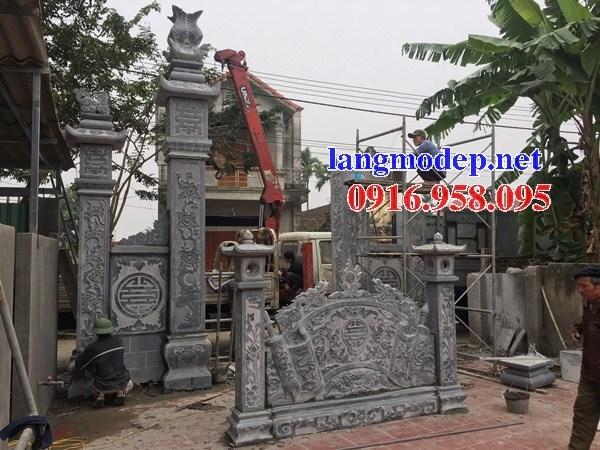 110 Mẫu cổng nhà thờ họ đình đền chùa miếu bằng đá tại Quảng Trị