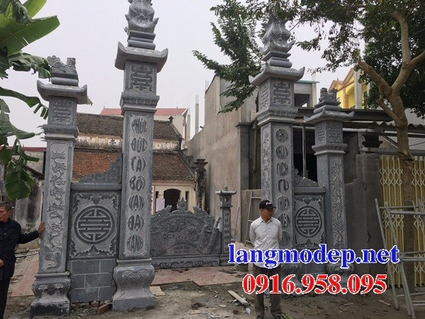 110 Mẫu cổng nhà thờ họ đình đền chùa miếu khu lăng mộ bằng đá tại Quảng Trị