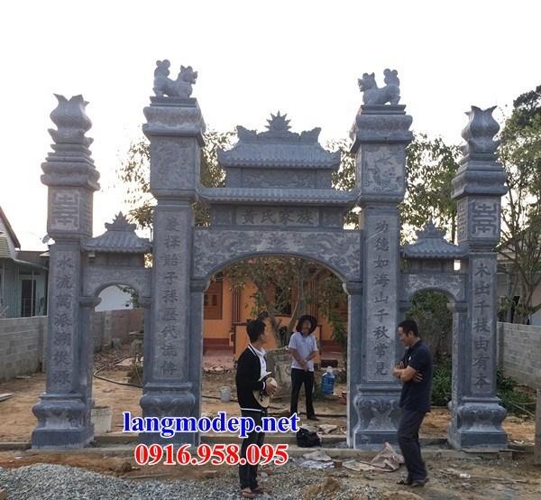 110 Mẫu cổng tam quan nhà thờ họ đình đền chùa miếu khu lăng mộ bằng đá Thanh Hóa tại Quảng Trị