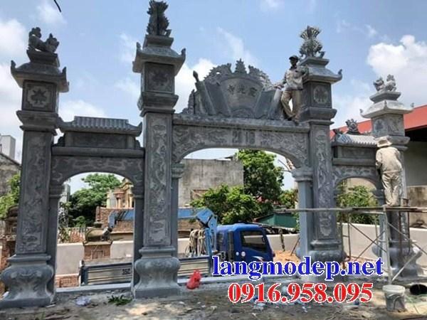 110 Mẫu cổng tam quan nhà thờ họ đình đền chùa miếu khu lăng mộ bằng đá tại Quảng Trị