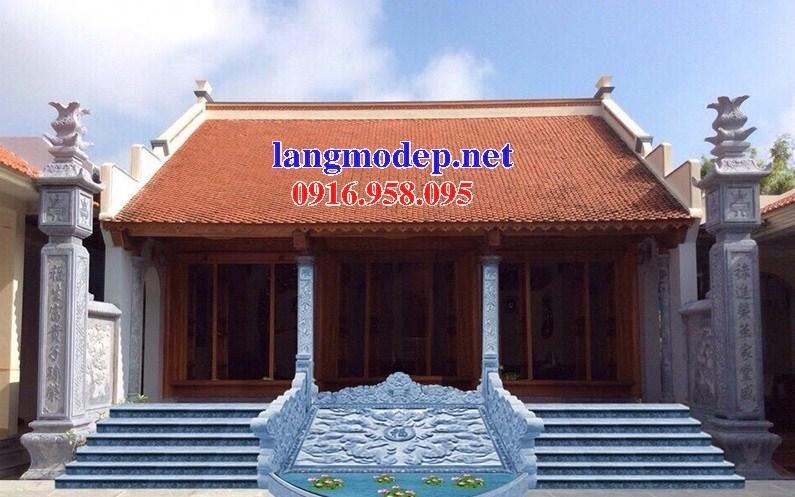 110 Mẫu cột đá cột đồng trụ nhà thờ họ đình đền chùa miếu khu lăng mộ bằng đá đẹp tại Quảng Trị