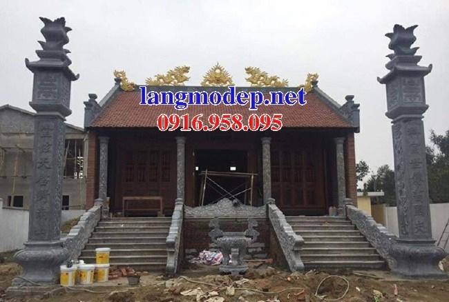 110 Mẫu cột đá cột đồng trụ nhà thờ họ đình đền chùa miếu khu lăng mộ bằng đá thiết kế đẹp tại Quảng Trị