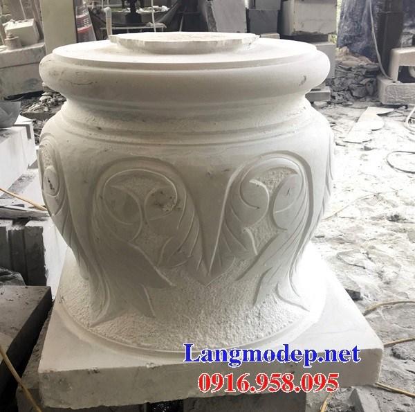 110 Mẫu chân cột chân tảng nhà thờ họ đình đền chùa miếu khu lăng mộ bằng đá trắng tại Quảng Trị