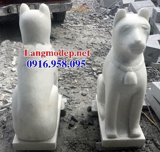 110 Mẫu chó phong thủy nhà thờ họ đình đền chùa miếu khu lăng mộ bằng đá trắng tại Quảng Trị