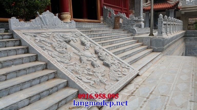 110 Mẫu chiếu rồng nhà thờ họ đình đền chùa miếu khu lăng mộ bằng đá chạm khắc tinh xảo tại Quảng Trị