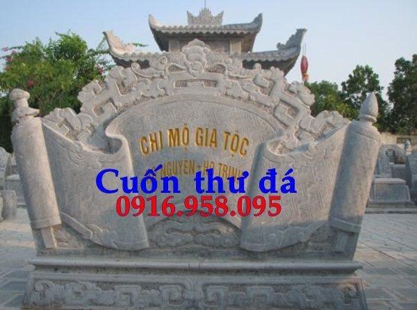 110 Mẫu cuốn thư bức bình phong nhà thờ họ đình đền chùa miếu khu lăng mộ bằng đá tự nhiên cao cấp tại Quảng Trị