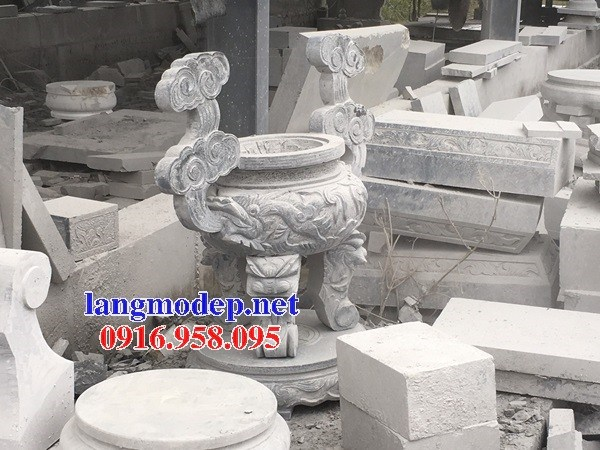 110 Mẫu lư hương đỉnh đèn nhà thờ họ đình đền chùa miếu khu lăng mộ bằng đá bán tại Quảng Trị