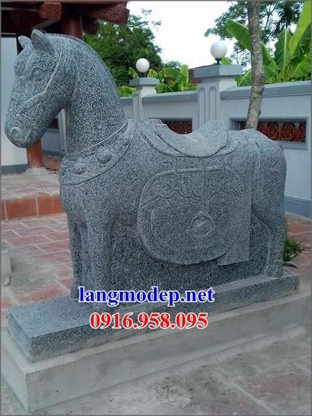 110 Mẫu ngựa phong thủy nhà thờ họ đình đền chùa miếu khu lăng mộ bằng đá nguyên khối tại Quảng Trị