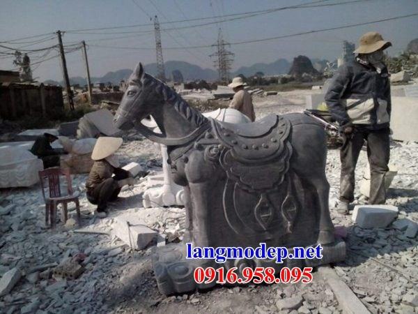 110 Mẫu ngựa phong thủy nhà thờ họ đình đền chùa miếu khu lăng mộ bằng đá tự nhiên cao cấp tại Quảng Trị