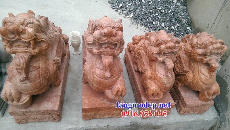 110 Mẫu tỳ hưu phong thủy nhà thờ họ đình đền chùa miếu khu lăng mộ bằng đá đỏ tại Quảng Trị