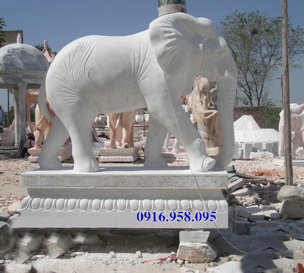 110 Mẫu voi phong thủy nhà thờ họ đình đền chùa miếu khu lăng mộ bằng đá trắng tại Quảng Trị