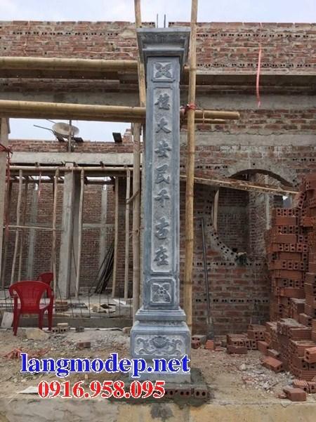 Mẫu địa chỉ cột đá đồng trụ nhà thờ họ đình đền chùa miếu bằng đá tại Cà Mau