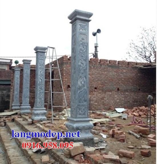 Mẫu địa chỉ cột đá đồng trụ nhà thờ họ đình đền chùa miếu bằng đá tại Cần Thơ