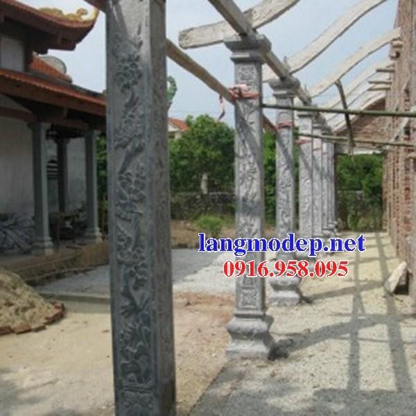 Mẫu địa chỉ cột đá đồng trụ nhà thờ họ đình đền chùa miếu bằng đá tại Hậu Giang