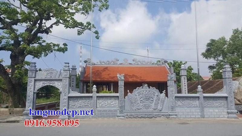 Mẫu cổng đình đền chùa miếu bằng đá Thanh Hóa tại Ninh Bình