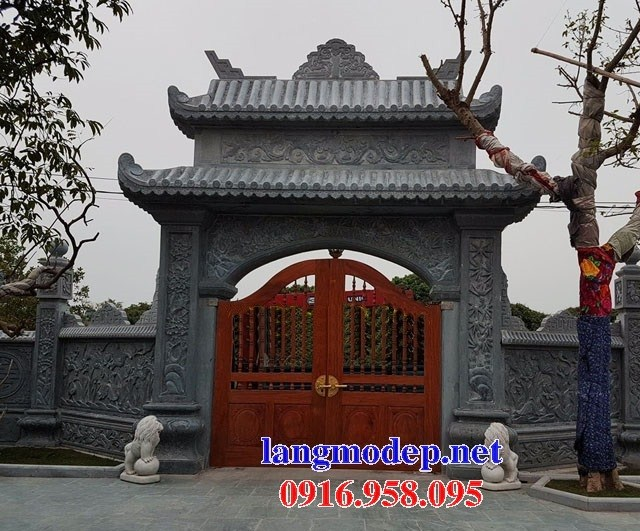 Mẫu cổng đình đền chùa miếu bằng đá tại Ninh Bình