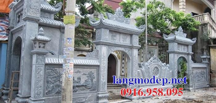 Mẫu cổng đình đền chùa miếu nhà thờ họ bằng đá tại Ninh Bình