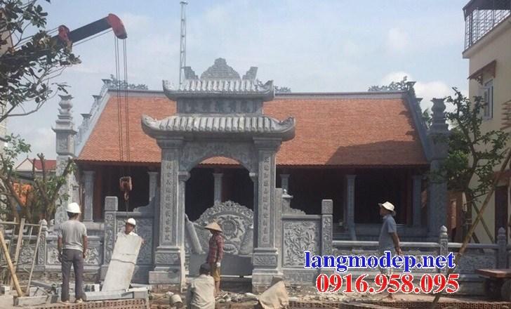 Mẫu cổng đình đền chùa miếu nhà thờ họ từ đường bằng đá chạm khắc tinh xảo tại Ninh Bình