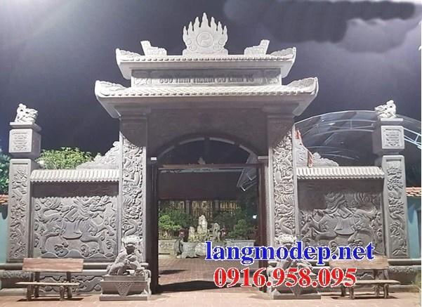 Mẫu cổng đình đền chùa miếu nhà thờ họ từ đường bằng đá mỹ nghệ tại Ninh Bình