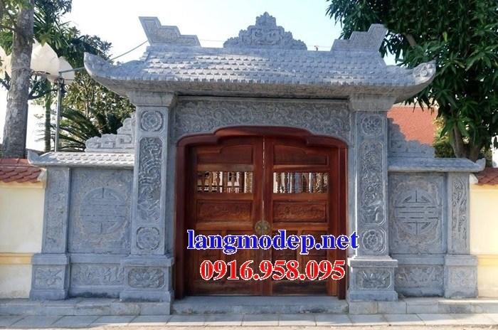Mẫu cổng đình đền chùa miếu nhà thờ họ từ đường bằng đá tại Ninh Bình