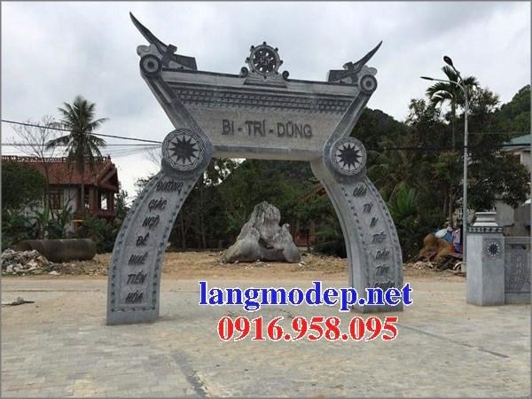 Mẫu cổng đình đền chùa miếu nhà thờ họ từ đường bằng đá thiết kế đẹp tại Ninh Bình