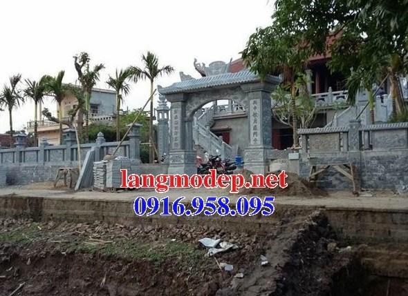 Mẫu cổng nhà thờ họ đình đền chùa miếu bằng đá Thanh Hóa tại Trà Vinh