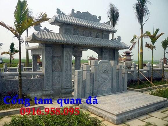 Mẫu cổng nhà thờ họ đình đền chùa miếu bằng đá chạm khắc tinh xảo tại Trà Vinh
