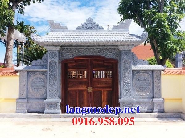 Mẫu cổng nhà thờ họ đình đền chùa miếu bằng đá tại Tiền Giang