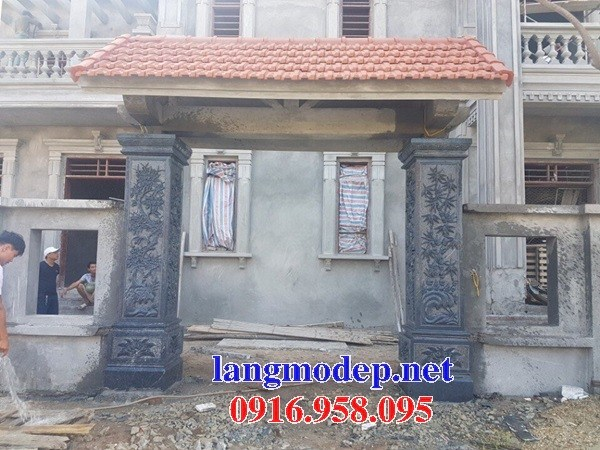 Mẫu cổng nhà thờ họ đình đền chùa miếu bằng đá tại Trà Vinh