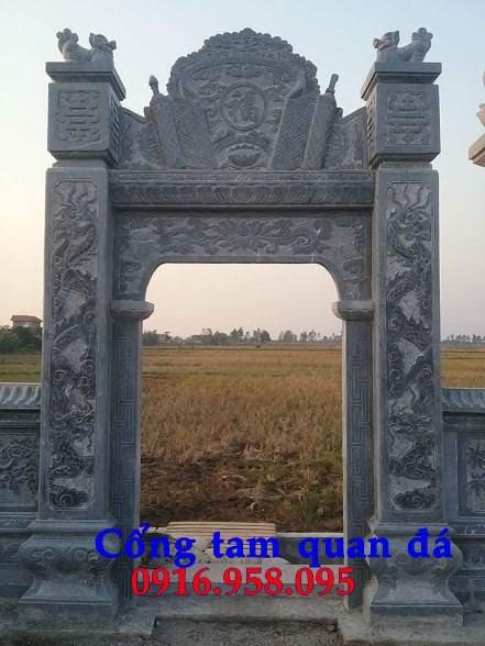 Mẫu cổng nhà thờ họ đình đền chùa miếu khu lăng mộ bằng đá tại Tiền Giang