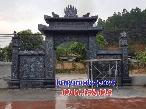 Mẫu cổng nhà thờ họ đình đền chùa miếu khu lăng mộ bằng đá tại Trà Vinh