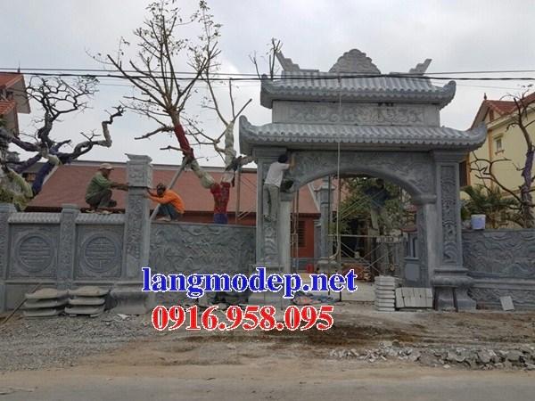 Mẫu cổng nhà thờ họ bằng đá tại Tiền Giang