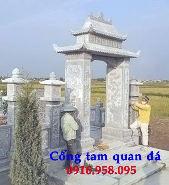 Mẫu cổng nhà thờ họ khu lăng mộ bằng đá Ninh Bình tại Bà Rịa Vũng Tàu