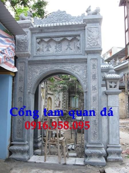 Mẫu cổng nhà thờ họ từ đường đình đền chùa miếu bằng đá Thanh Hóa tại Bà Rịa Vũng Tàu