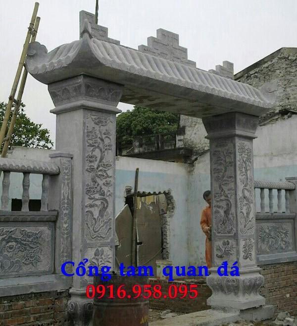 Mẫu cổng nhà thờ họ từ đường đình đền chùa miếu bằng đá chạm khắc tinh xảo tại Bà Rịa Vũng Tàu