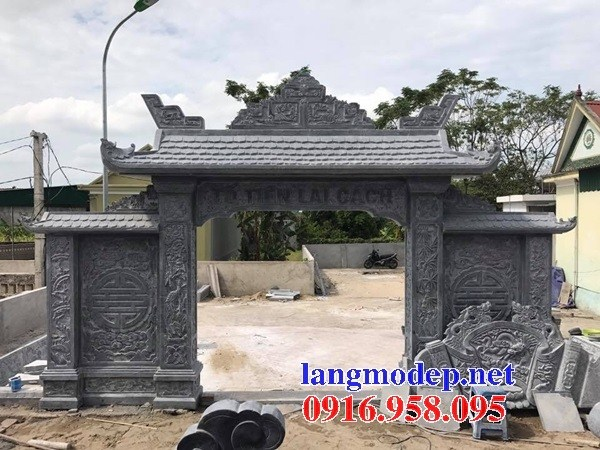 Mẫu cổng nhà thờ họ từ đường đình đền chùa miếu bằng đá tại Bà Rịa Vũng Tàu